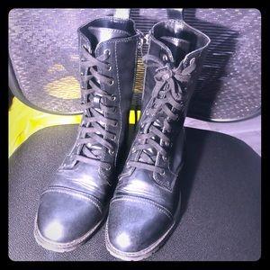 Black Women's Combat Boots Size 11